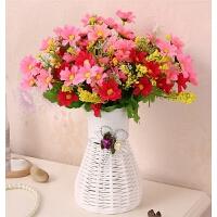 塑料仿真花艺套装饰品客厅卧室摆放室内假花绢花玫瑰盆栽摆件花卉