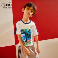 小虎宝儿男童半袖上衣2020夏季新款儿童纯棉短袖t恤中大童韩版潮