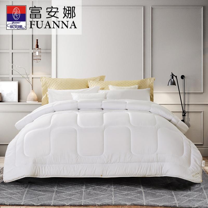 富安娜家纺 冬被芯厚被子四季被床上用品 保暖磨毛面料冬厚被四季被
