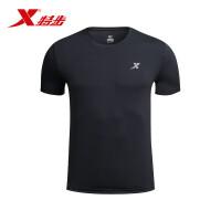 特步男跑步T恤 2017夏季新品轻薄透气弹力短袖t��健身运动上衣男883229019075