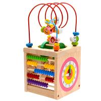 儿童绕珠串珠6一12个月婴幼益智玩具男孩女宝宝积木0-1-2岁-3周岁