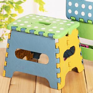 门扉 凳子 儿童创意点点折叠凳幼儿园塑料凳户外便携手提凳子换鞋凳加厚塑料凳子