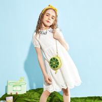 【夏新3件3折:99】巴拉巴拉旗下巴帝巴帝女童蕾丝连衣裙公主洋气2020夏装新款儿童裙子女