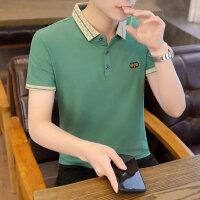 POLO短袖 2021夏季新款男款韩版潮流衬衫领POLO衫短袖 167男装41035