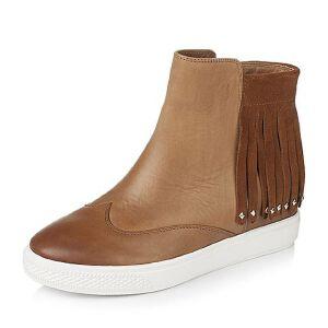 Teenmix/天美意专柜同款牛皮革女靴6QJ47CD6