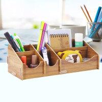 木制笔筒创意时尚小清新大号化妆品盒桌面摆件耳环首饰收纳盒