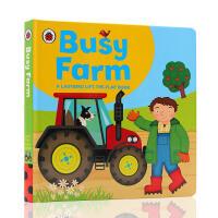 英文原版 Busy Farm 忙碌的农场 儿童启蒙翻翻书纸板书绘本图画书 Lift-the-flap Book 小瓢虫