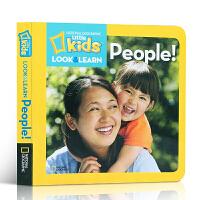 英文原版 Look and Learn: People 国家地理探索世界小百科少儿版系列 儿童科普图书益智早教英文智力