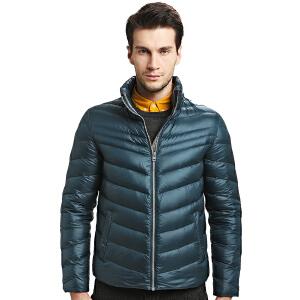 雅鹿轻薄羽绒服男短款 韩版修身立领时尚户外冬装男外套