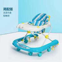 宝宝学步车可坐手推车婴儿幼儿童宝宝学步车多功能防侧翻男女小孩手推可坐学行 简配款 蓝色