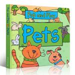 英文原版 儿童绘本 Pop and Play Pets 一起玩一起学 STEM科普立体书 边玩边学 儿童启蒙学习英文版