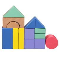 榉木儿童积木玩具3-6周岁女孩宝宝1-2岁婴儿智力男孩木头拼装