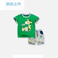 新款套装短袖夏季儿童装女宝宝卡通图案男童纯棉两件套装