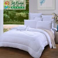 富安娜家纺 圣之花时尚压花冬厚保暖被子被芯 1.5/1.8米床适用被芯