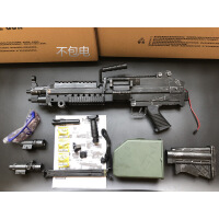 m249水晶弹儿童玩具枪大菠萝电动连发三代绝地求生模型m416突击步抢绝地求生巴雷特枪98k可发射 大号战损色