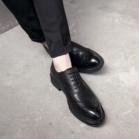 DAZED CONFUSED 春季男鞋英伦雕花皮鞋尖头复古潮鞋商务休闲鞋婚鞋子男单鞋