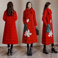 中国风棉衣女长过膝冬季外套复古民族风羽绒唐装棉袄