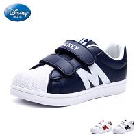 迪士尼童鞋儿童运动鞋2017新款中大童小白鞋亲子鞋男童女童鞋 DS2264
