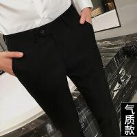 西裤男修身西服裤子秋冬商务休闲裤青年正装韩版小脚潮黑色西装裤