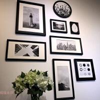 冲洗照片 竖版 走廊玄关 照片墙装饰 相框墙 相框 创意 挂墙组合 A款 8框 备注框色