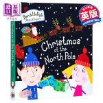 【中商原版】花园小精灵 北极圈的圣诞 英文原版 Christmas at the North Pole 纸板书 班班和