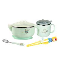婴儿注水保温辅食吸盘碗儿童餐具套装宝宝餐具可爱