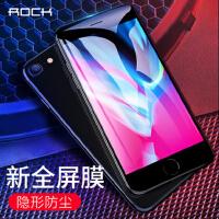 包邮支持礼品卡 ROCK iPhone6 钢化玻璃膜 苹果 iphone7 软边手机膜 iphone8 plus 全屏