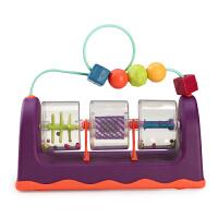 美国B.Toys 绕珠旋转滚滚乐 八宝动手玩具 培养手眼协调性 6月+