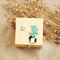 音乐盒 创意多肉卡通木质手摇音乐盒八音盒生日礼物送女友闺蜜儿童