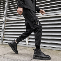 工装裤休闲裤束脚裤运动裤秋冬季裤子男学生修身潮流
