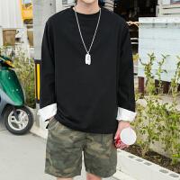 长袖T恤男 春装新款薄款韩版修身青年衣服男士卫衣春季打底衫