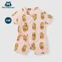 【每满299元减100元】迷你巴拉巴拉新生儿连体衣夏款男女宝宝香蕉狗卡通纱布连体服