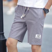 休闲短裤男色日系复古亚麻五分裤 棉麻5分中裤子宽松沙滩裤