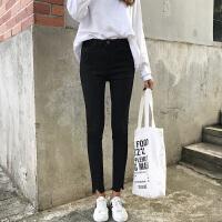 女装春装2018新款韩版修身高腰牛仔裤学生百搭铅笔裤休闲九分裤子