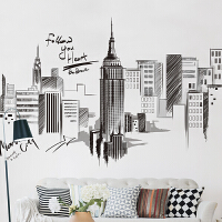 个性创意墙贴纸客厅沙发背景墙装饰品3D立体手绘工业风建筑贴画