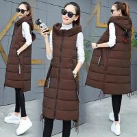 棉衣马甲女士外套秋冬新款中长款羽绒棉冬季韩版修身毛球马夹坎肩外套