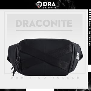 DRACONITE黑色便携潮牌男士腰包户外休闲骑行防水斜挎包13214A