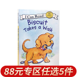 顺丰发货 可app点读跟读 启蒙读物 My First I Can Read:Biscuit Takes a Walk