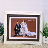 影楼欧式实木相框制作创意宝宝儿童婚纱照摆台挂墙7寸8 12