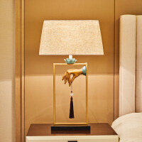 办公桌室内摆件创意实用禅意客厅卧室台灯家居饰品