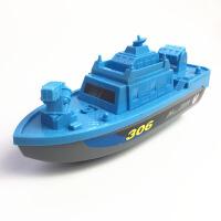 电动船非遥控快艇帆船海盗船宝宝洗澡泳池戏水儿童电动船玩具 标配