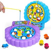 儿童鱼玩具池套装电动旋转带音乐男孩1-3-6周岁小孩7岁宝宝戏水
