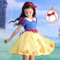 童装女孩夏装洋气女童连衣裙宝宝韩版儿童白雪公主裙子
