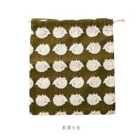 旅行收纳袋零钱包韩国帆布棉麻抽绳衣物束口袋大号袋子小号小布袋