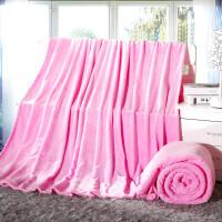加厚款纯色法莱绒毛毯珊瑚绒毯薄被子毛绒量大可logo