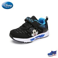 迪士尼Disney童鞋18新款儿童运动鞋米奇男童学生鞋网面透气炫彩灯鞋休闲鞋 (5-10岁可选) S73336