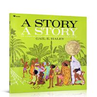 美国凯迪克金奖 英文原版进口绘本A Story a Story 偷故事图画书 3-6-8岁儿童英语阅读启蒙童书