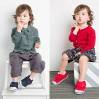 卡特兔女宝宝公主鞋子0-3-5岁婴儿学步鞋机能鞋男宝宝软底学步鞋