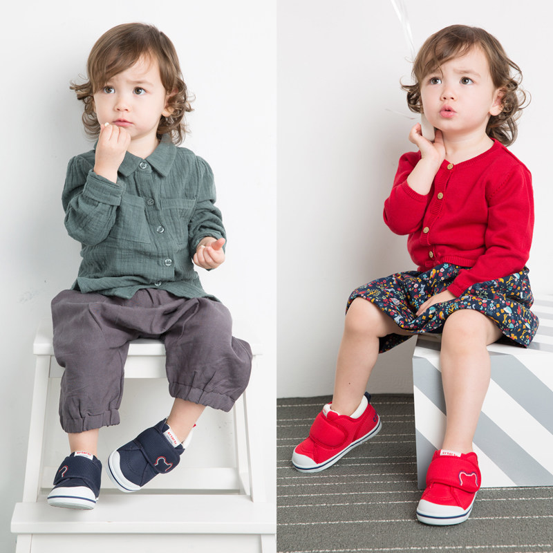 卡特兔女宝宝公主鞋子0-3-5岁婴儿学步鞋机能鞋男宝宝软底学步鞋热销100万双 小区宝宝都穿 经典口碑款