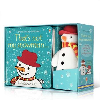 英文原版 TNM Snowman Book and Toy 亲子互动阅读 启蒙幼儿绘本读物毛绒玩具 Usborne出品纸板玩偶故事图画书2-5岁启蒙英语读物